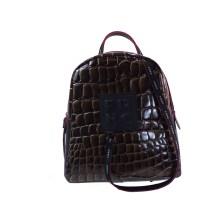 FRNC FRANCESCO Τσάντα Γυναικεία Πλάτης-Backpack 1410 Καφέ Κροκο
