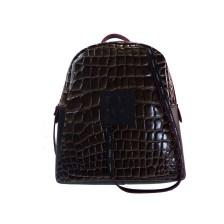 FRNC FRANCESCO Τσάντα Γυναικεία Πλάτης-Backpack 1411 Καφέ Κροκο