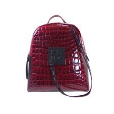 FRNC FRANCESCO Τσάντα Γυναικεία Πλάτης-Backpack 1411 Κόκκινο Κροκο