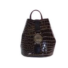 FRNC FRANCESCO Τσάντα Γυναικεία Πλάτης-Backpack 1413 Καφέ Κροκο