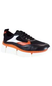 WOW bY kricket Γυναικεία Παπούτσια Sneakers 0300 Μαύρο Δέρμα