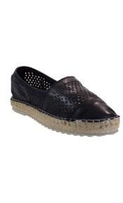 VEROSOFT Γυναικεία Παπούτσια Εσπαντρίγιες 350-7661 Μαύρο Δέρμα 887202795
