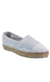 VEROSOFT Γυναικεία Παπούτσια Εσπαντρίγιες 350-7661 Λευκό Δέρμα 887202795