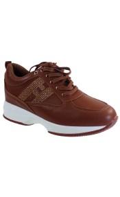 Bagiota Shoes Γυναικεία Παπούτσια Sneakers Αθλητικά Η8978 Ταμπά