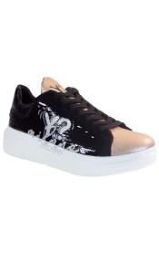 YNOT Sneakers Γυναικεία Παπούτσια YNIO400 Μαύρο-Μπρονζέ