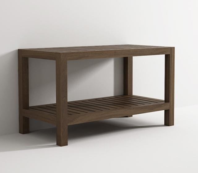 Panca doccia in legno teak  Bagni dAutore