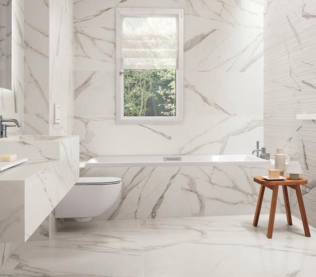 Piastrella effetto marmo Bianco Statuario Fap Ceramiche