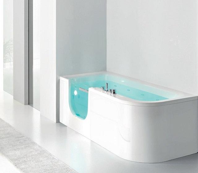 Vasca doccia combinate con box in vetro o cristallo