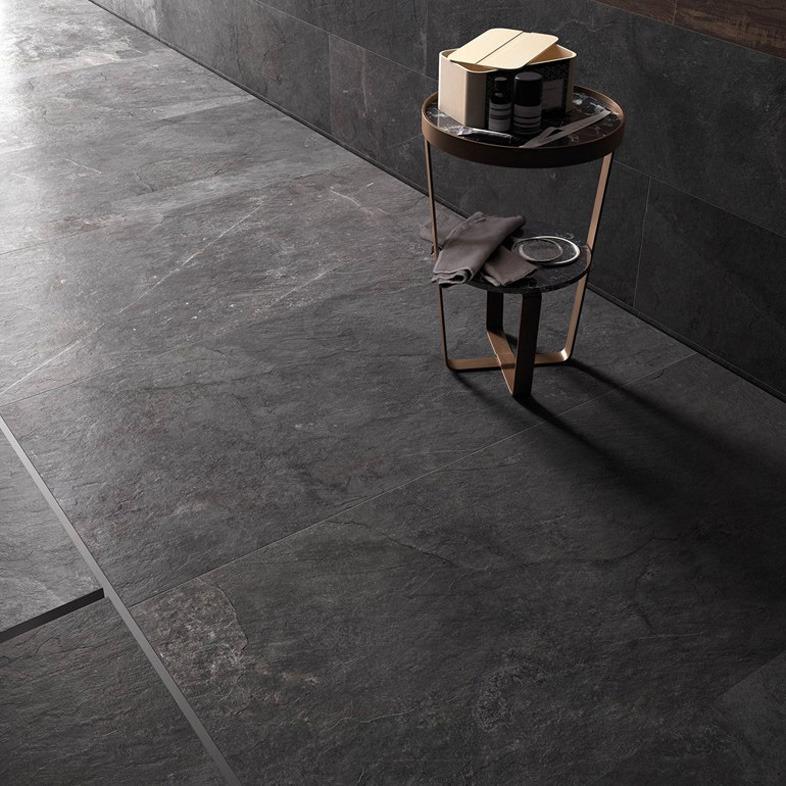 Gres porcellanato effetto pietra Stonework  Ardesia nera