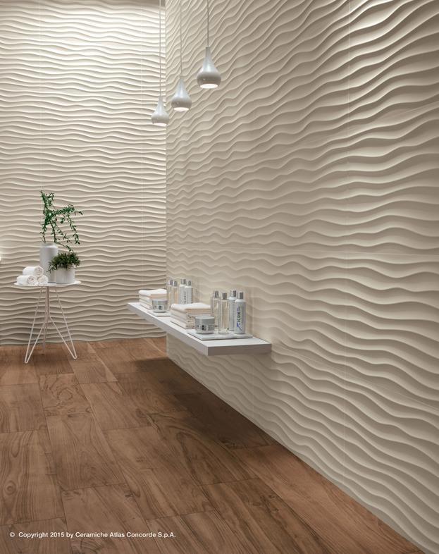 Rivestimento ceramico 3D Wall Design Dune  Atlas Concorde