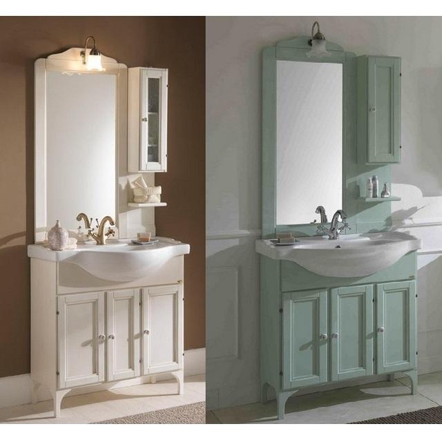 Lilium Bathroom Cabinet 85 Cm Vintage Style 4 Colors