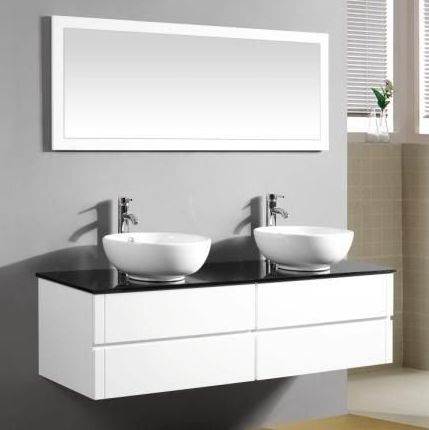 Topaz2 Bathroom Cabinet Modern Furniture With Double Washbasin