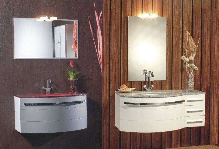 Mobile bagno Onda Arredo componibile con lavabo in