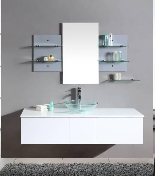 Arredobagno Sofia 140 bianco con lavabo da appoggio pd
