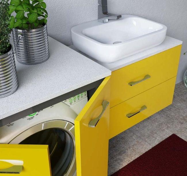 Mobile Bagno Magic4 con coprilavatrice portalavatrice e asciugatrice in diversi colori bb
