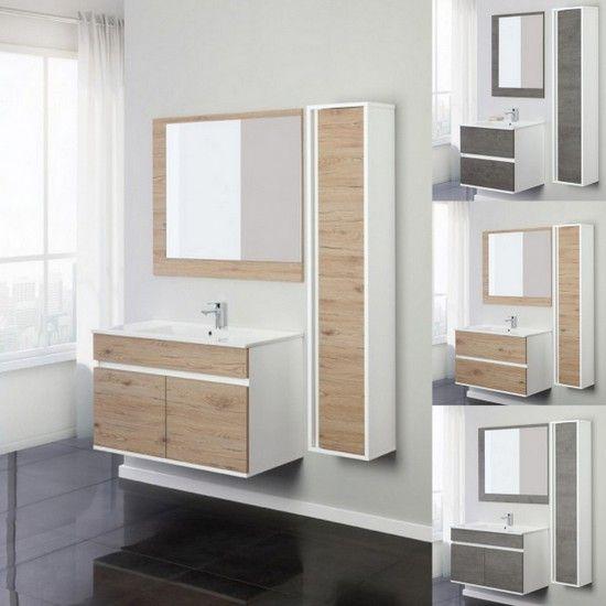 Mobile bagno fanny da 60 o 90 con cassetti o ante specchio incluso