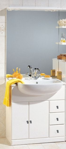 Mobile Bagno Cleo cm 81 con lavabo semincasso bh