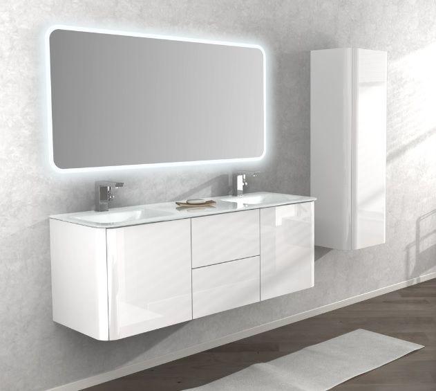 Mobile bagno live 140 doppio lavabo arredo sospeso in pi