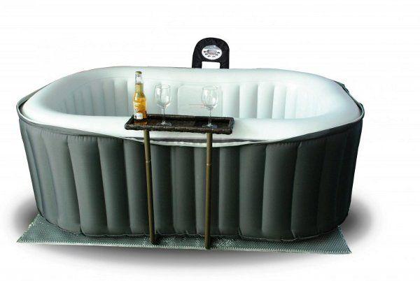 Mini piscina auto gonfiabile idromassaggio rettangolare
