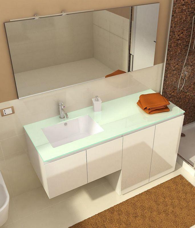 Mobile per bagno con portalavatrice coprilavatrice da 160