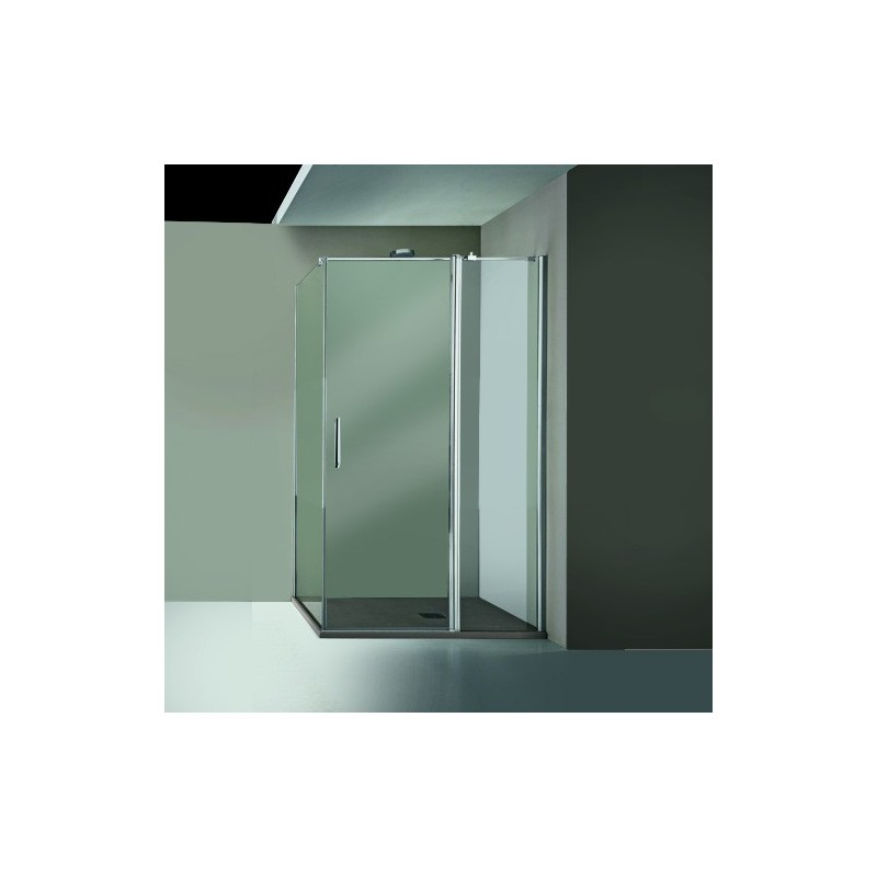 ARBLU Dedalo box doccia con anta battente e lato fisso