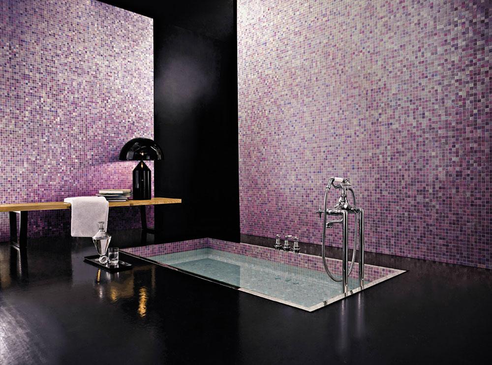 Bagno Con Mosaico Oro