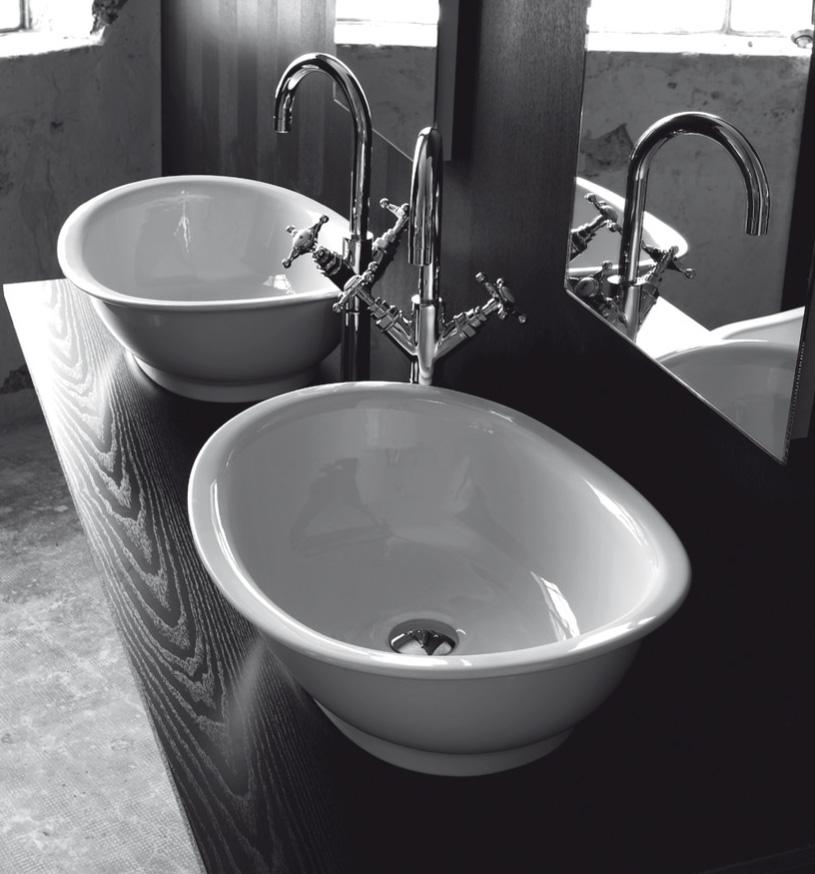 Lavandino bagno da appoggio Regent