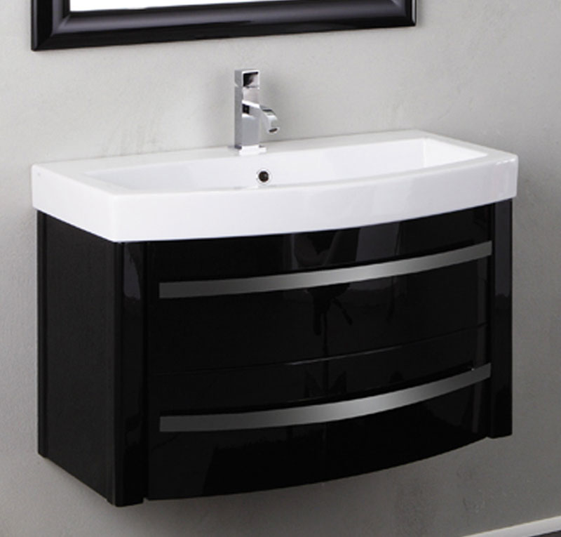 Mobile bagno sospeso con lavabo ZEUS 2 cassetti