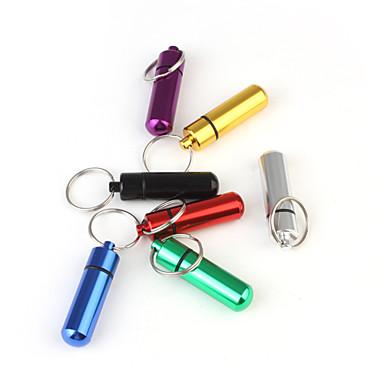 Pillercylinder, medicinbox i nyckelring, pillerdosa på nyckelring