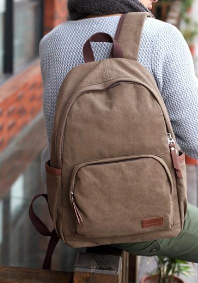 Canvas backpack men daypack backpack  BagsEarth