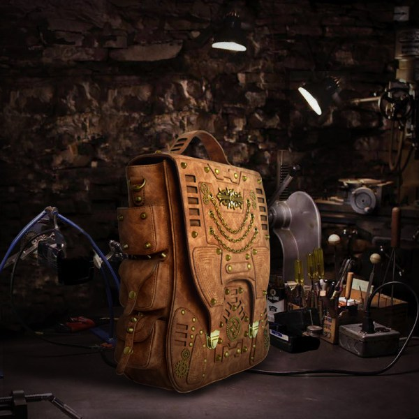 Gothic Steampunk Unique Backpack Cool School Bag