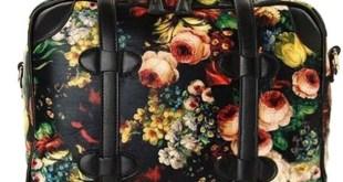 Floral Faux Leather Handbag