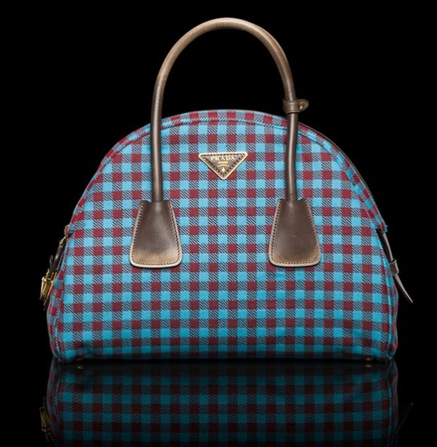 Prada Calf Leather Top Handle Bag