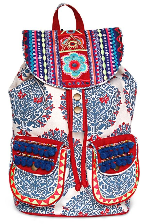Limeroad White Embellished Backpack
