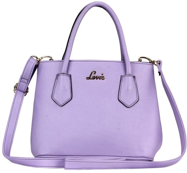 BagsLounge LAVIE MARSHMALLOW MED HH SATCHEL LILAC-PERU-FUSCIA