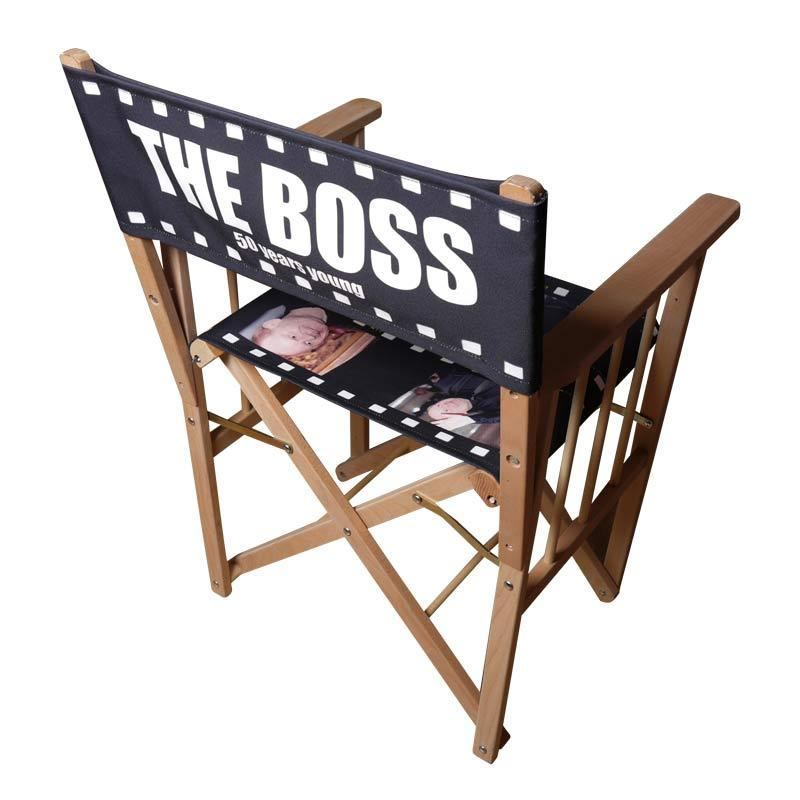 portable directors chair desk non swivel personalised chair. custom print chairs - bags of love