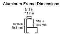 black aluminum frames