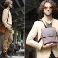 Mens vintage leather messenger bag crossbody bag bagswish