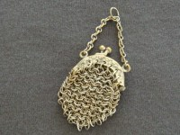 Antique Doll s Purse - Miniature Chain Mail Purse with ...