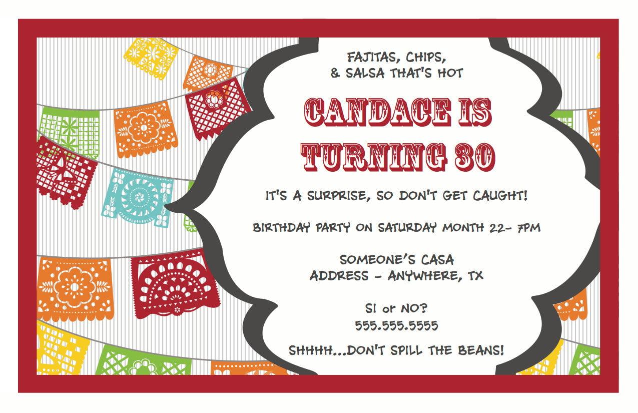 Birthday Invitations 30th Surprise