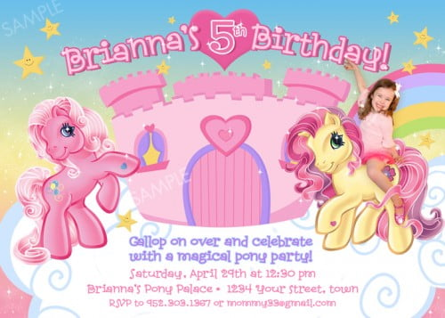 My Little Pony Birthday Invitations Ideas For Girl – FREE