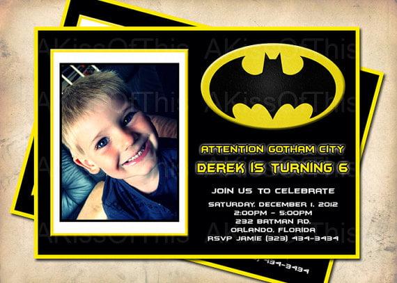 Batman Birthday Invitations Ideas Free Printable