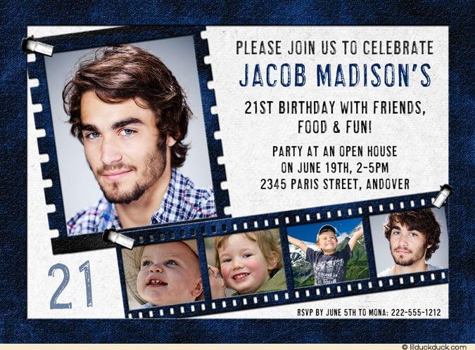 Printable Hollywood Invitations