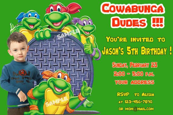 Ninja Turtle Birthday Invitations Ideas – FREE Printable