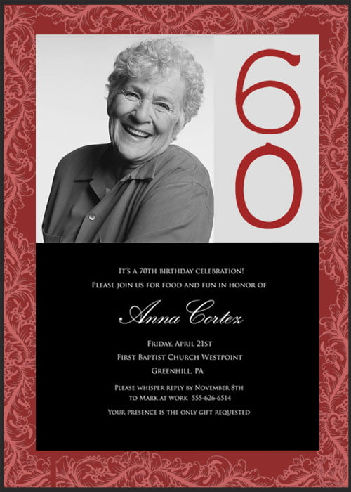 60th Birthday Party Invitations – Bagvania FREE Printable