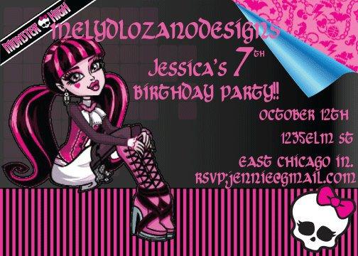 Monster High Invitation Cards – Monster High Birthday Invites