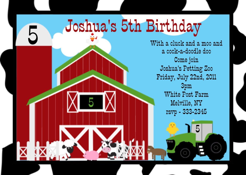 john deere birthday invitation free