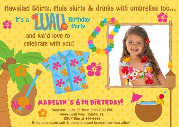 luau birthday invitations free