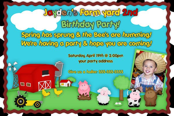 barnyard birthday invitations free