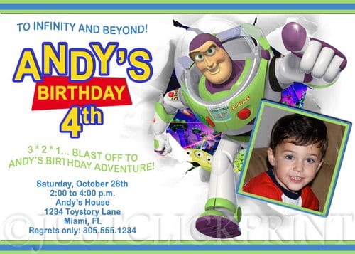 buzz lightyear birthday invitations